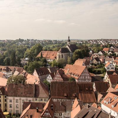 Südblick über die Altstadt von Bad Wimpfen